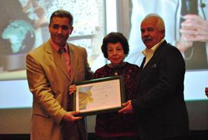 From left, Prof. Yakup Kaska, President of 35th ISTS, Lily Venizelos, Ali Rıza Avcı, Ortaca Municipality Vice Mayor